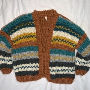 Wishlist   Hand Made Chunky Knit Cardigan Sweater